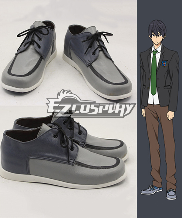 Costumes Fashion Ezcosplay Libera! Haruka Nanase scuola uniforme Cosplay Shoes