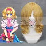 Cosplay di progetto Touhou Alice Margatroid luce gialla parrucca-021A
