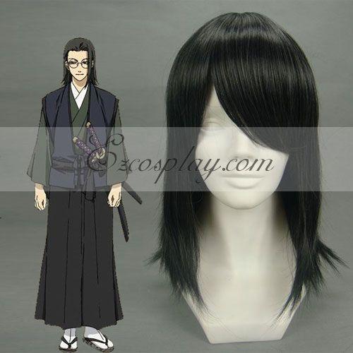Costumi moda Ezcosplay Cosplay Hakuouki Keisuke Yamanami nero Wig-026A