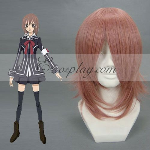 Costumi moda Ezcosplay Cosplay Vampire Knight Yuuki Kurosu Red Brown Wig-027A