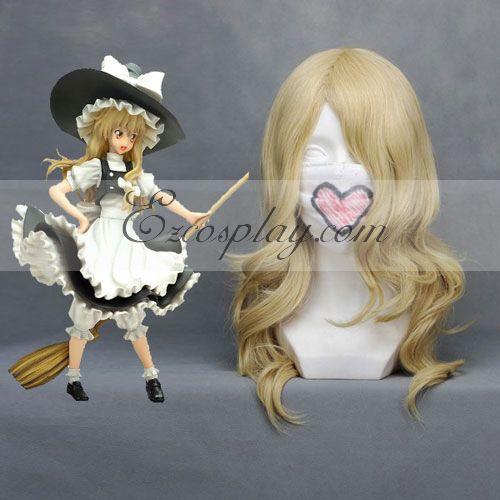 Costumi moda Ezcosplay Touhou progetto Marisa Giallo chiaro Cosplay 028B