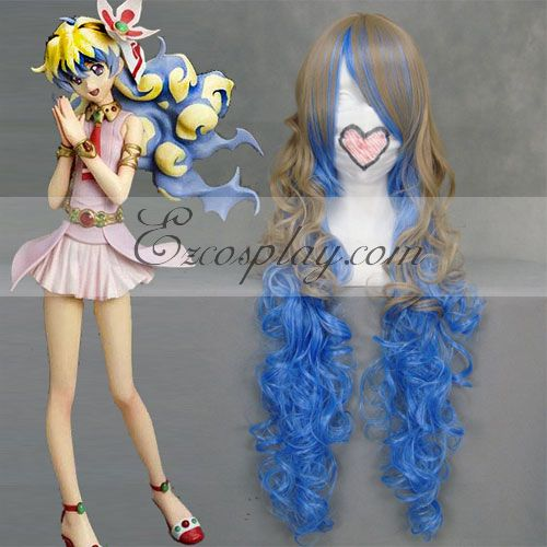 Costumi moda Ezcosplay Tengen Toppa Nia Brown & Blue Cosplay-037C