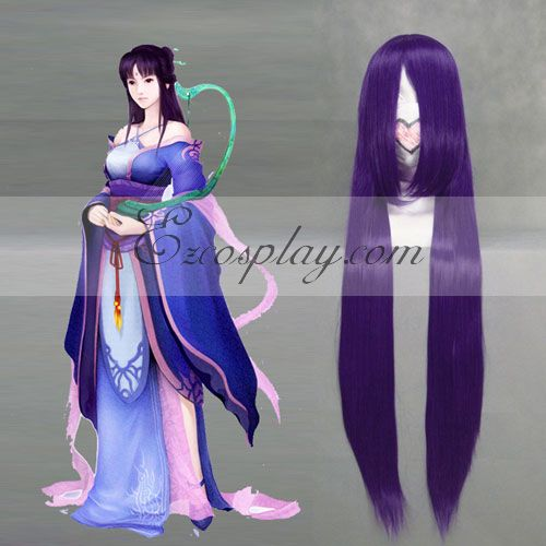 Costumi moda Ezcosplay Chinese Paladin 4 Liu Mengli viola Cosplay-038C