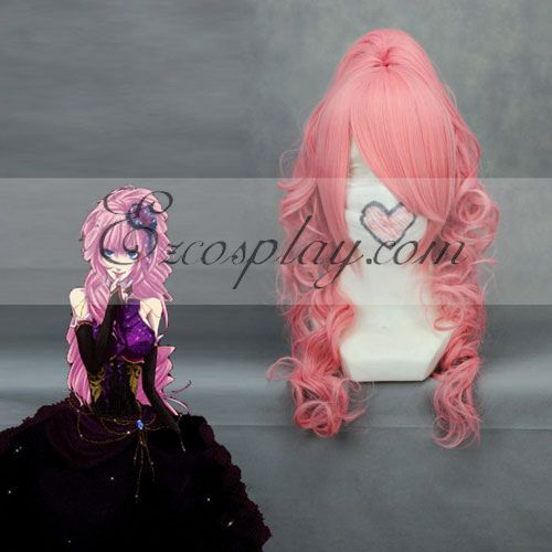 Costumi moda Ezcosplay Vocaloid Luka Rosa Cosplay onda parrucca-048A
