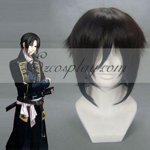 Costumi moda Ezcosplay Cosplay Hakuouki Hijikata Toshizo nero Wig-054C