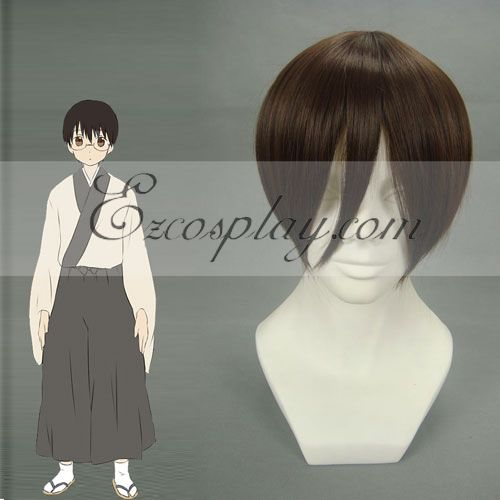 Costumi moda Ezcosplay Cosplay Gintama Shimura Shinpachi Brown Wig-103A