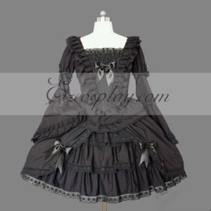 Costumi Fashion Ezcosplay nero Gothic Lolita Dress -LTFS0110