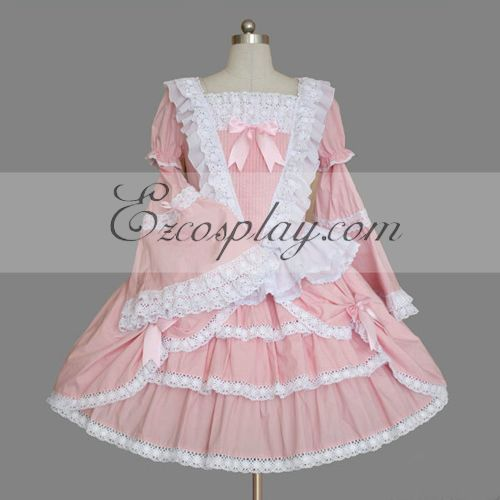 Costumi Fashion Ezcosplay Rosa Gothic Lolita Dress -LTFS0111
