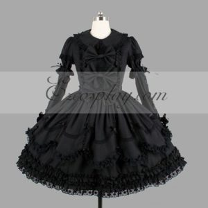 Costumi Fashion Ezcosplay nero Gothic Lolita Dress -LTFS0112