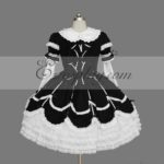 Nero-Bianco Gothic Lolita Dress -LTFS0113