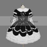 Nero-Bianco Gothic Lolita Dress -LTFS0113