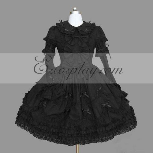 Costumi Fashion Ezcosplay nero Gothic Lolita Dress -LTFS0114