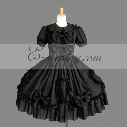 Costumi Fashion Ezcosplay nero Gothic Lolita Dress -LTFS0116