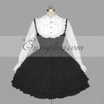 Nero-Bianco Gothic Lolita Dress -LTFS0117