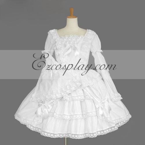Costumi Fashion Ezcosplay Bianco Gothic Lolita Dress -LTFS0119