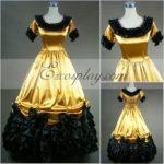 maniche corte gialla Gothic Lolita Dress-LTFS0011