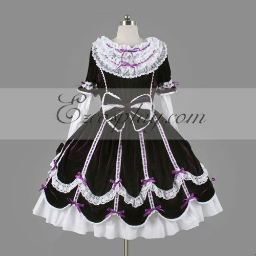 Costumi Fashion Ezcosplay viola Gothic Lolita Dress -LTFS0120