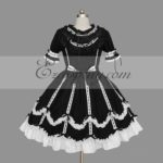 Nero-Bianco Gothic Lolita Dress -LTFS0121