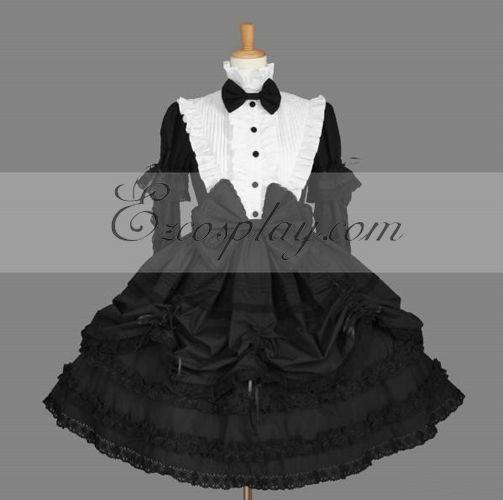 Costumi Fashion Ezcosplay nero Gothic Lolita Dress -LTFS0136