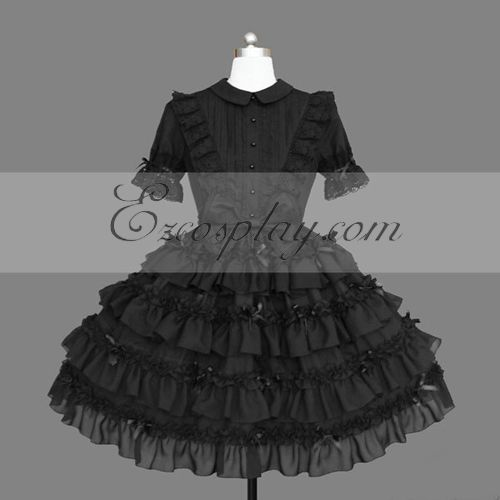 Costumi Fashion Ezcosplay nero Gothic Lolita Dress -LTFS0139