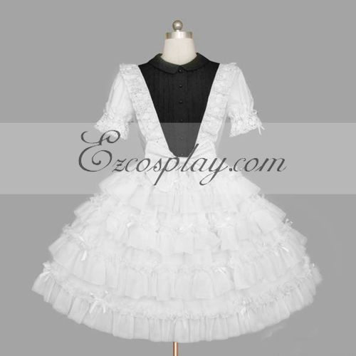 Costumi Fashion Ezcosplay Bianco Gothic Lolita Dress -LTFS0140