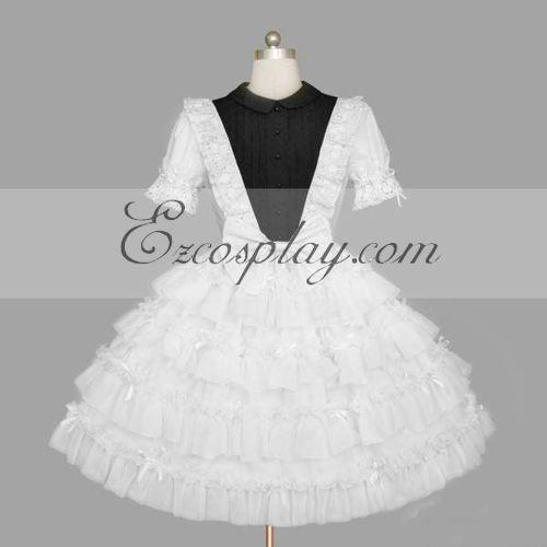 Costumi Fashion Ezcosplay Bianco Gothic Lolita Dress -LTFS0140