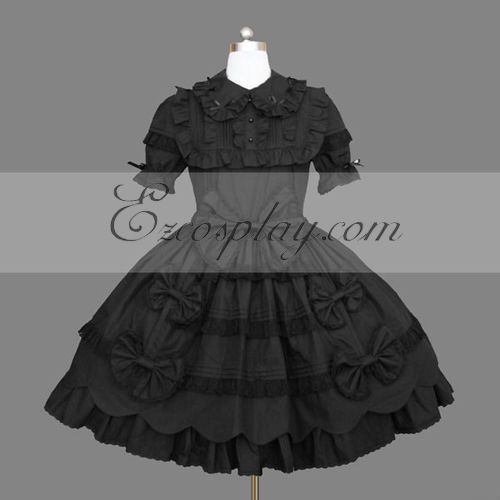 Costumi Fashion Ezcosplay nero Gothic Lolita Dress -LTFS0147