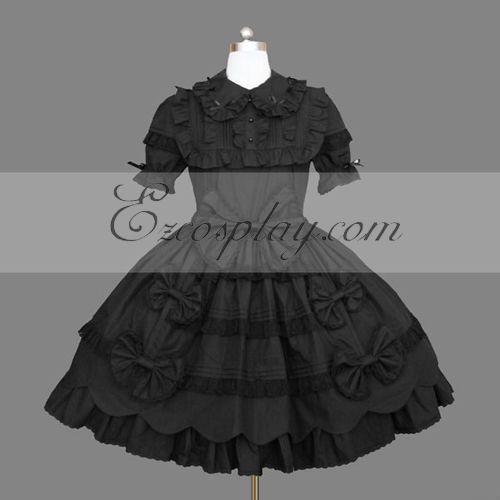 Costumi Fashion Ezcosplay nero Gothic Lolita Dress -LTFS0147