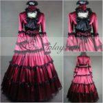 Red manica lunga Gothic Lolita Dress-LTFS0016
