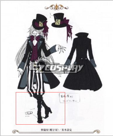 Costumi Fashion Ezcosplay Undertaker Black Butler Cosplay Nuovi Stivali