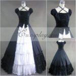 zaffiro blu senza maniche Gothic Lolita Dress-LTFS0037