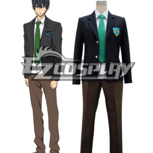 Costumes Fashion Ezcosplay Libera! Costume cosplay Haruka Nanase scuola uniforme