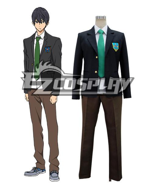 Costumes Fashion Ezcosplay Libera! Costume cosplay Haruka Nanase scuola uniforme
