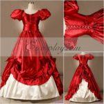 Red manica corta Gothic Lolita Dress-LTFS0055