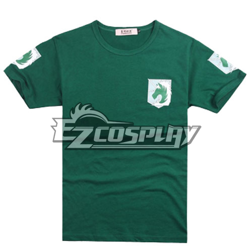Costumi moda Ezcosplay L'attacco dei Giganti Gendarmeria Camicia Verde Cosplay