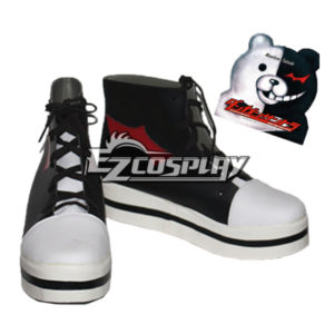 Costumi Fashion Ezcosplay Calzature Dangan Ronpa Monokuma Nero Cospaly
