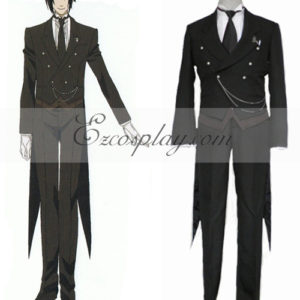 Costumi Fashion Ezcosplay Black Butler Sebastian Michaelis Cosplay Costume