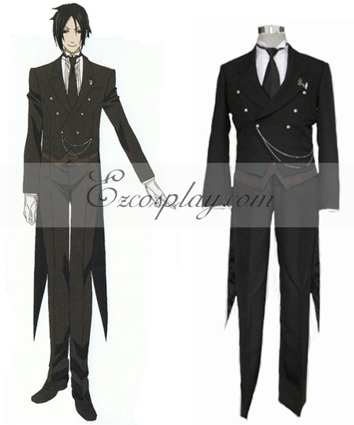 Costumi Fashion Ezcosplay Black Butler Sebastian Michaelis Cosplay Costume