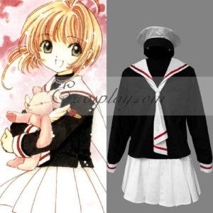 Costumi moda Ezcosplay Uniforme Card Captor Sakura Sakura Kinomoto Tomoeda Scuola elementare di Cosplay Custume