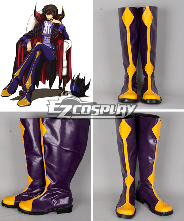 Costumi Fashion Ezcosplay Code Geass Lelouch Zero Cosplay Boots