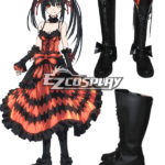 Date A Live Tokisaki Kurumi Nightmare Nero Scarpe Cosplay Stivali