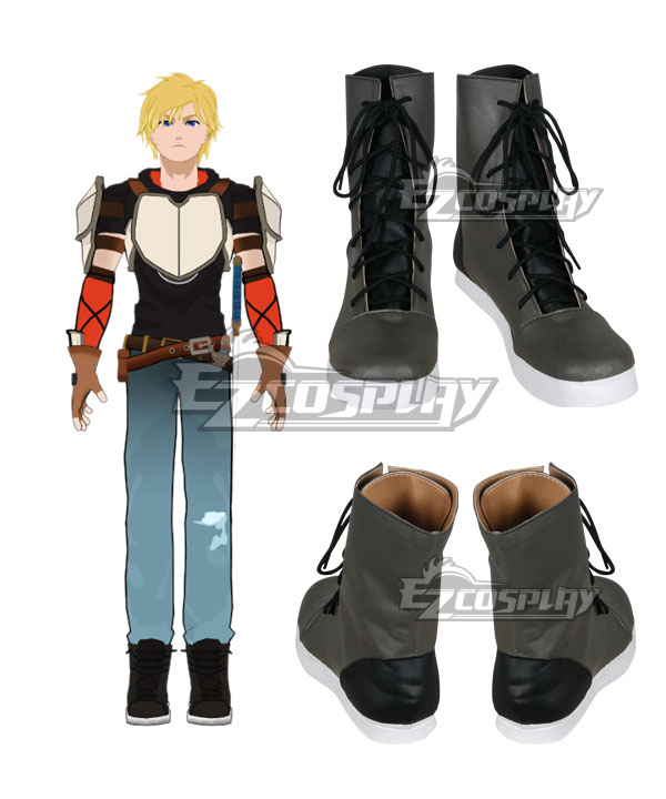 Costumi moda Ezcosplay Calzature RWBY Beacon Academy Team JNPR Jaune Arc Cosplay Grey