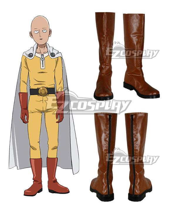 Costumi moda Ezcosplay Un uomo con un pugno Saitama Caped Baldy Hagemanto arancione Cosplay Boots