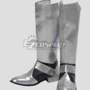 Costumi moda Ezcosplay Calzature Fate Stay Night Saber d'argento Cosplay Boots