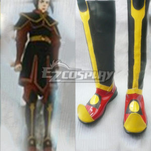 Costumi moda Ezcosplay Avatar The Last Airbender Azura Nero Cosplay Boots