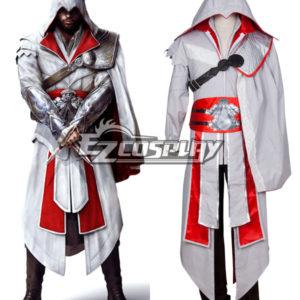 Costumi moda Ezcosplay Costume Creed III Brotherhood Ezio Halloween Cosplay di Assassin