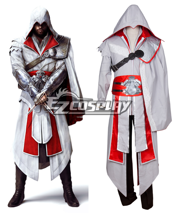 Costumi moda Ezcosplay Costume Creed III Brotherhood Ezio Halloween Cosplay di Assassin