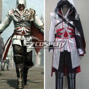 Costumi moda Ezcosplay Costume Creed II Brotherhood Ezio Halloween Cosplay di Assassin