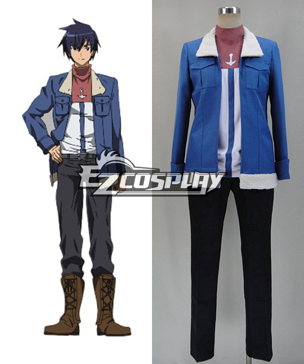 Costumi Fashion Ezcosplay Akame Ga Uccidi! Costume cosplay onda (camicia e cappotto)