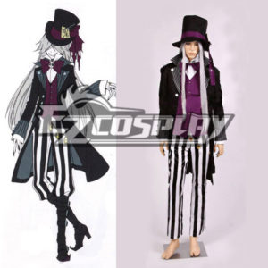 Costumi Moda Ezcosplay Black Butler costume Undertaker Nuovo Cosplay